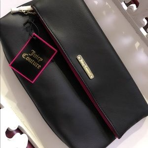 Juicy Couture large cosmetic bag/ fold over clutch